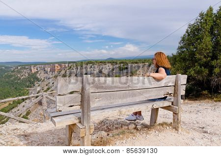 Woman Enjoys Scenery