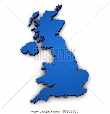 Uk British Map Shape