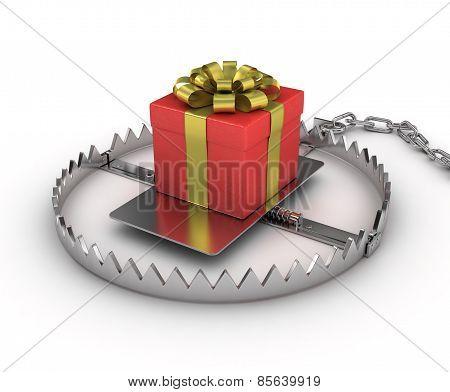 present in the trap