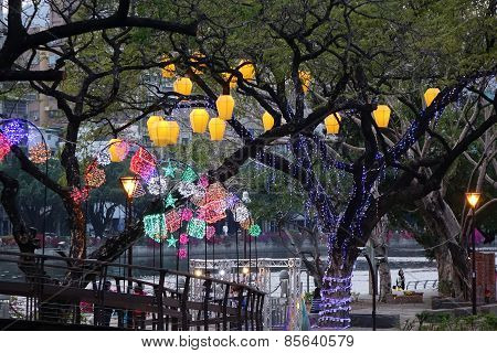 Colorful Lanterns At The 2015 Lantern Festival In Taiwan
