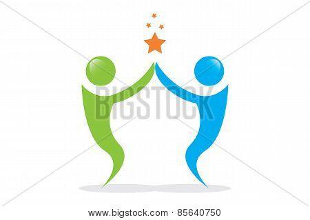 Vector Teamwork Human
