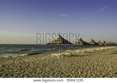 Morning On The Beach Of The Azov Sea