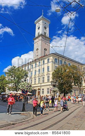 Lviv City Hall On The Rynok Square, Ukraine