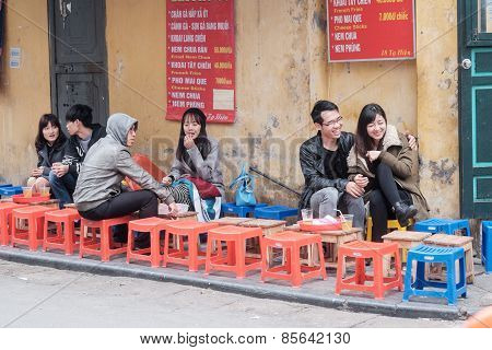 Young people of Hanoi