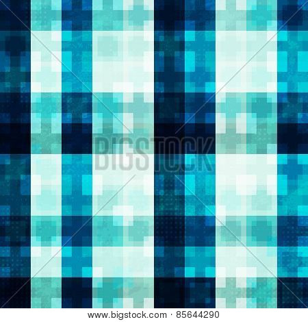 Blue Light Mosaic Seamless Pattern