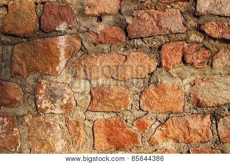 Cobblestone wall texture