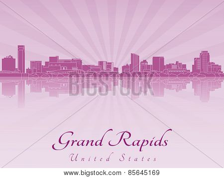 Grand Rapids Skyline In Purple Radiant Orchid