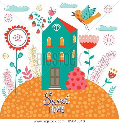 Sweet home illustration