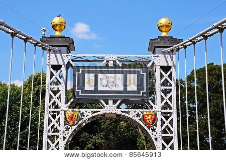 Dee Suspension bridge detail, Chester.