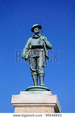 Soldier statue, Evesham.