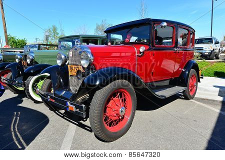 Red Model A Ford