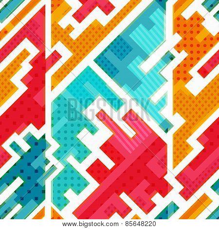 Bright Funky Seamless Pattern