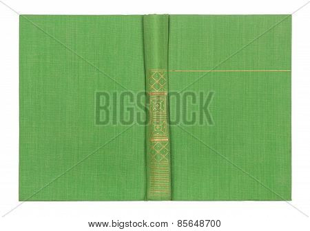 Outdoor Light Green Book Cover Isolated On White Background