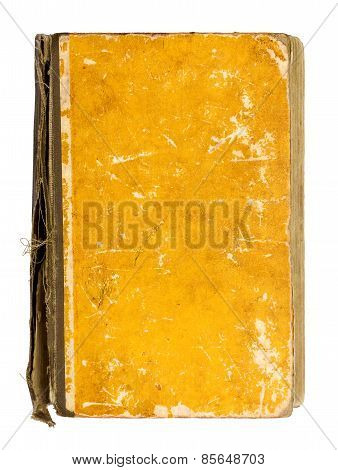 Old Vintage Yellow Book On An Isolated White Background