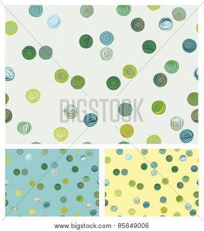 Vector seamless pattern colorful circles shapes.