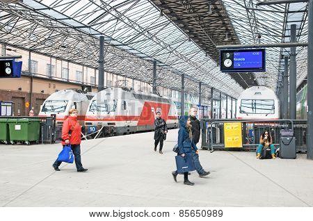 Helsinki. Finland. Central Railway Station