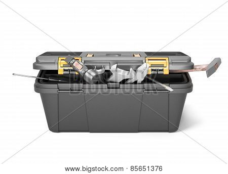 Box With Tools Front View