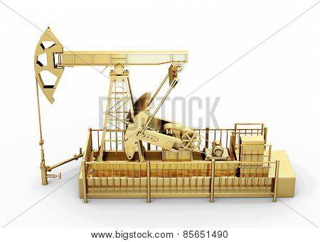 Gold Oil Pump