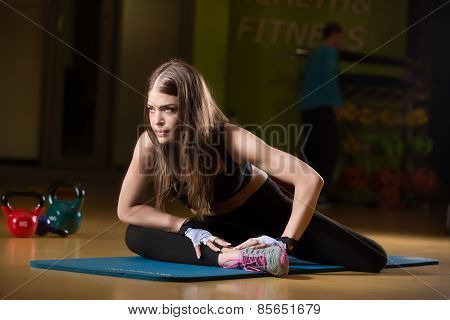 Stretching fitness and pilates exercise.Young woman doing some pilates exercises