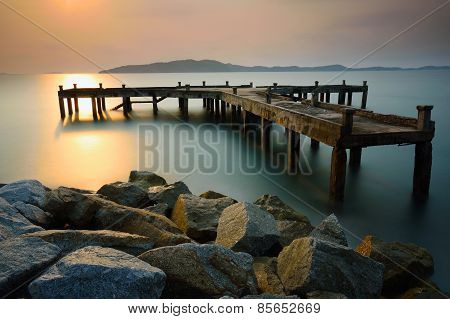 Old Harbor At Sunrise