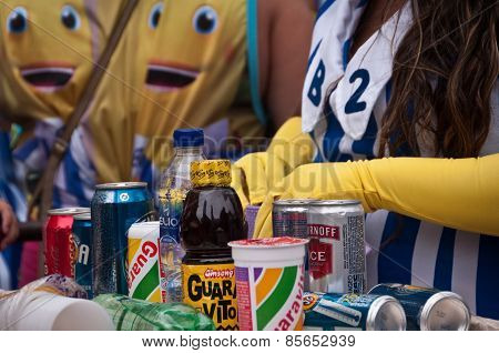 Alcohol and other drinks for sale during Carnival