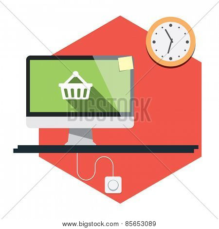 Abstract flat vector illustration of design and development concepts