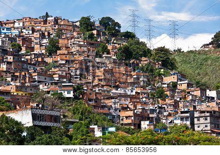 Rio de Janeiro Slums on the Hill