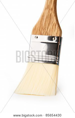 Wide Paint Brush Isolated At White