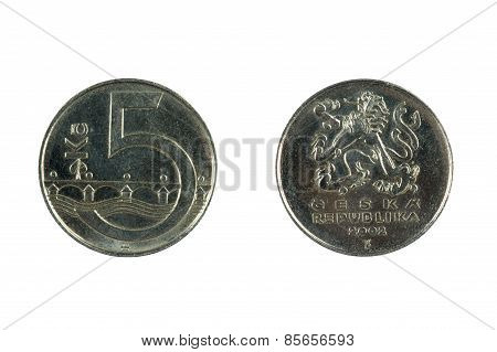Czech Coin Isolated