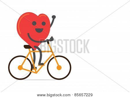 Strong heart biking