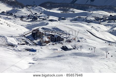 Top View On Ski Resort
