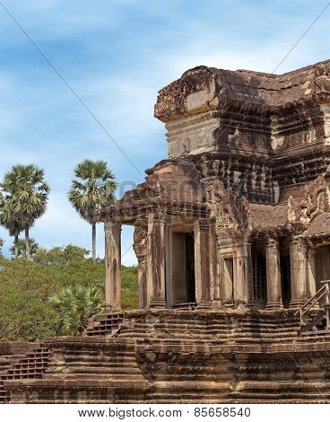 stone building in angkor
