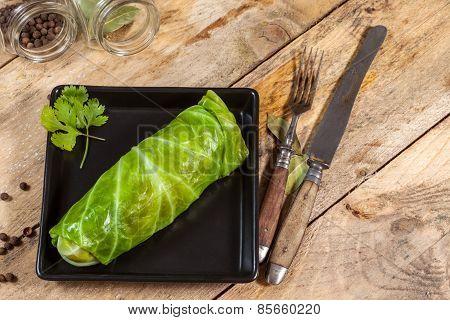 Raw Cabbage Rolls.