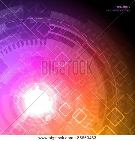 Abstract Hi-tech Background. Vector Illustration