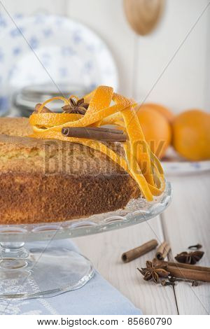 Homemade Orange Sponge Cake
