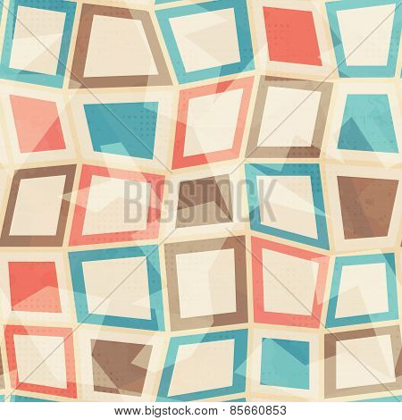 Colored Squares Seamless Pattern