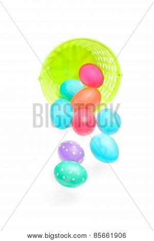 Easter Eggs Falling Out Of Basket