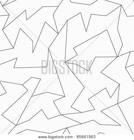 Contour Mosaic Seamless Pattern