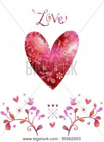Love heart design. Valentine Day. Save the date background.