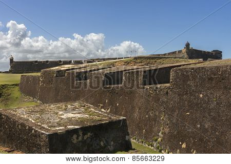 The Eastern Ramparts Of Castillo San Christobal.