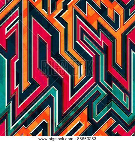 Fantastic Maze Seamless Pattern
