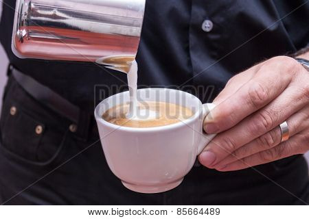 Barista Making Cappuccino