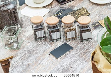 Assorted Coffee In Glass Jars