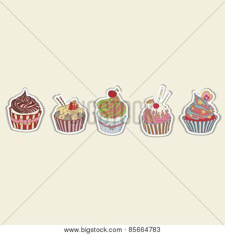 Cupcake Pattern Border