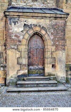 entrance portal to the church