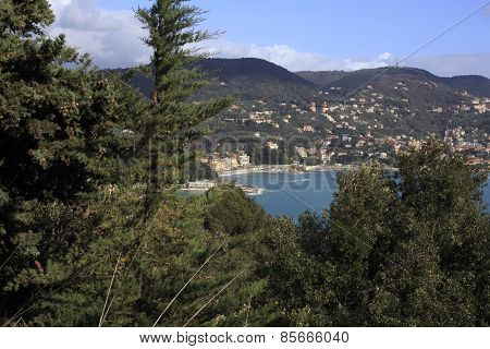 The View Of Lerici, Liguria With The Boats And Colorful Houses