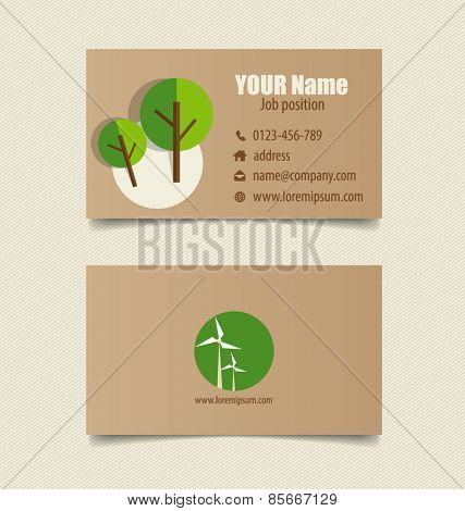Modern business card template, vector design editable.