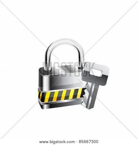 Lock and key - vector illustration