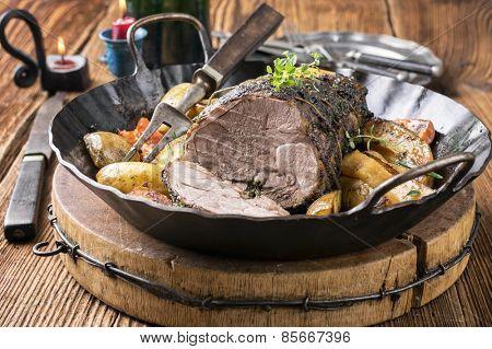 Lamb Roast in Pan