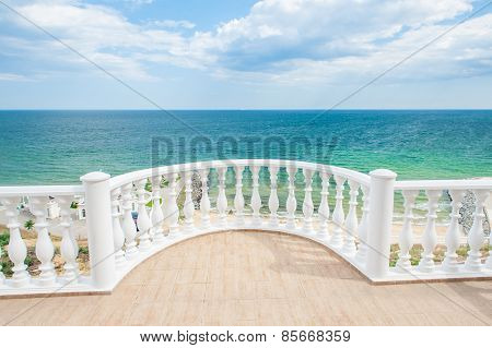 Balcony View On The Sea Shore